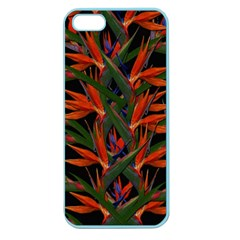 Bird Of Paradise Apple Seamless Iphone 5 Case (color) by Valentinaart