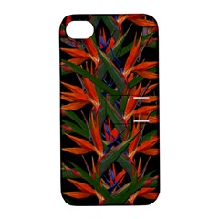 Bird Of Paradise Apple Iphone 4/4s Hardshell Case With Stand by Valentinaart