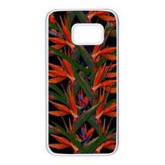 Bird Of Paradise Samsung Galaxy S7 White Seamless Case by Valentinaart