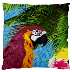 Ara Large Flano Cushion Case (one Side) by Valentinaart