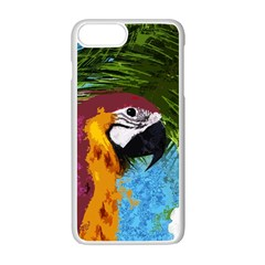 Ara Apple Iphone 7 Plus White Seamless Case by Valentinaart