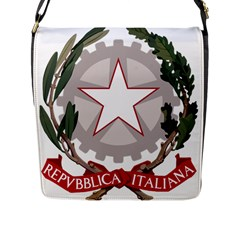 Emblem Of Italy Flap Messenger Bag (l)  by abbeyz71