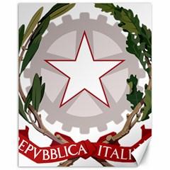 Emblem Of Italy Canvas 11  X 14   by abbeyz71