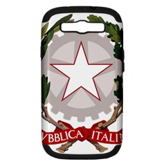 Emblem Of Italy Samsung Galaxy S Iii Hardshell Case (pc+silicone) by abbeyz71