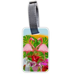 Flamingo Luggage Tags (one Side)  by Valentinaart