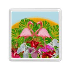 Flamingo Memory Card Reader (square)  by Valentinaart