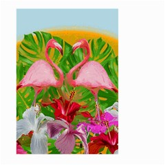 Flamingo Large Garden Flag (two Sides) by Valentinaart