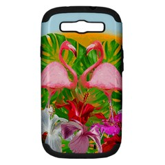Flamingo Samsung Galaxy S Iii Hardshell Case (pc+silicone) by Valentinaart