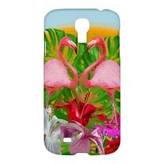 Flamingo Samsung Galaxy S4 I9500/i9505 Hardshell Case by Valentinaart