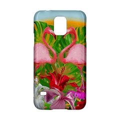 Flamingo Samsung Galaxy S5 Hardshell Case  by Valentinaart