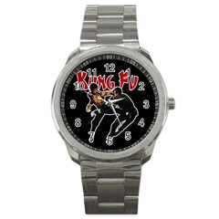 Kung Fu  Sport Metal Watch by Valentinaart