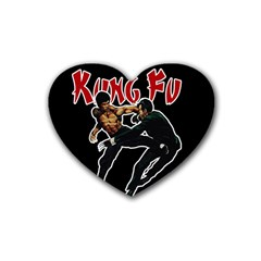 Kung Fu  Heart Coaster (4 Pack)  by Valentinaart