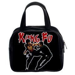 Kung Fu  Classic Handbags (2 Sides) by Valentinaart