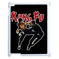 Kung Fu  Apple Ipad 2 Case (white) by Valentinaart