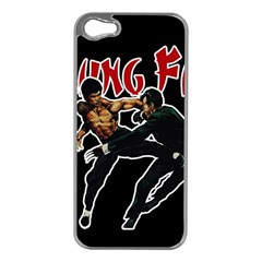 Kung Fu  Apple Iphone 5 Case (silver) by Valentinaart
