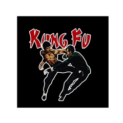Kung Fu  Small Satin Scarf (square) by Valentinaart