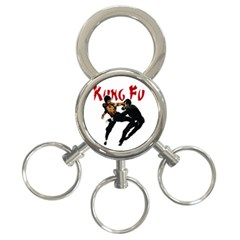 Kung Fu  3 Ring Key Chains by Valentinaart