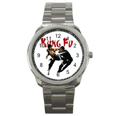 Kung Fu  Sport Metal Watch by Valentinaart