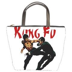 Kung Fu  Bucket Bags by Valentinaart