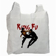 Kung Fu  Recycle Bag (one Side) by Valentinaart