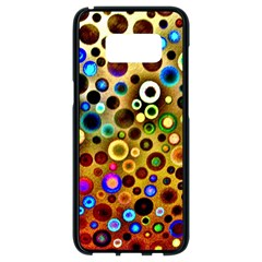 Colorful Circle Pattern Samsung Galaxy S8 Black Seamless Case