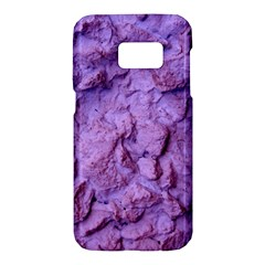Purple Wall Background Samsung Galaxy S7 Hardshell Case  by Costasonlineshop