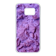 Purple Wall Background Samsung Galaxy S7 White Seamless Case by Costasonlineshop