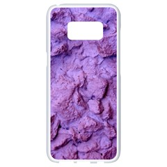 Purple Wall Background Samsung Galaxy S8 White Seamless Case by Costasonlineshop