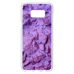 Purple Wall Background Samsung Galaxy S8 Plus White Seamless Case by Costasonlineshop