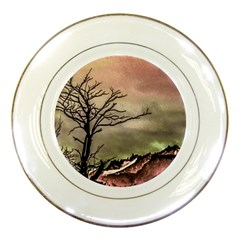 Fantasy Landscape Illustration Porcelain Plates by dflcprints