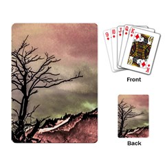 Fantasy Landscape Illustration Playing Card by dflcprints