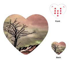Fantasy Landscape Illustration Playing Cards (heart)  by dflcprints