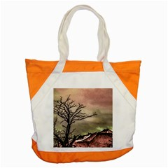 Fantasy Landscape Illustration Accent Tote Bag by dflcprints