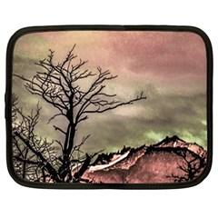 Fantasy Landscape Illustration Netbook Case (large) by dflcprints
