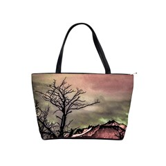 Fantasy Landscape Illustration Shoulder Handbags by dflcprints