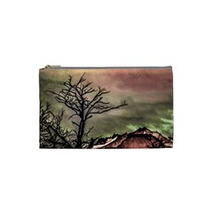 Fantasy Landscape Illustration Cosmetic Bag (small)  by dflcprints