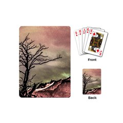 Fantasy Landscape Illustration Playing Cards (mini)  by dflcprints