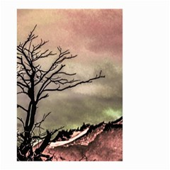 Fantasy Landscape Illustration Small Garden Flag (two Sides) by dflcprints