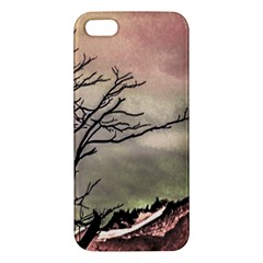 Fantasy Landscape Illustration Apple Iphone 5 Premium Hardshell Case by dflcprints