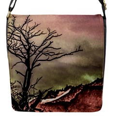 Fantasy Landscape Illustration Flap Messenger Bag (s) by dflcprints