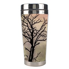 Fantasy Landscape Illustration Stainless Steel Travel Tumblers by dflcprints