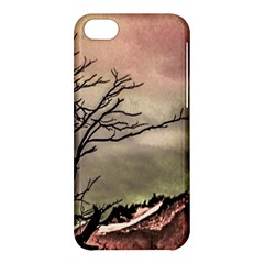 Fantasy Landscape Illustration Apple Iphone 5c Hardshell Case by dflcprints