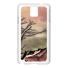 Fantasy Landscape Illustration Samsung Galaxy Note 3 N9005 Case (white) by dflcprints