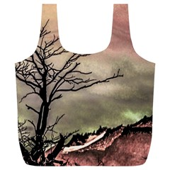 Fantasy Landscape Illustration Full Print Recycle Bags (l)  by dflcprints