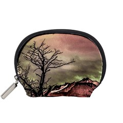 Fantasy Landscape Illustration Accessory Pouches (small)  by dflcprints