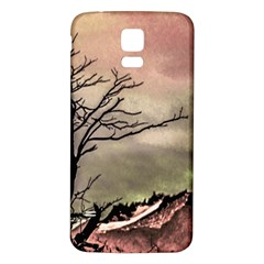 Fantasy Landscape Illustration Samsung Galaxy S5 Back Case (white) by dflcprints