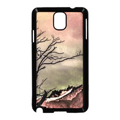 Fantasy Landscape Illustration Samsung Galaxy Note 3 Neo Hardshell Case (black) by dflcprints