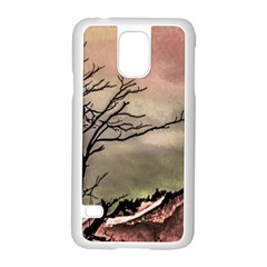 Fantasy Landscape Illustration Samsung Galaxy S5 Case (white) by dflcprints
