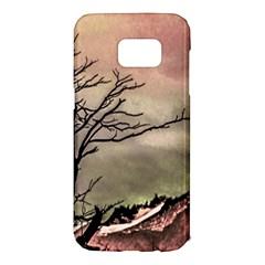 Fantasy Landscape Illustration Samsung Galaxy S7 Edge Hardshell Case by dflcprints