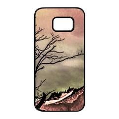 Fantasy Landscape Illustration Samsung Galaxy S7 Edge Black Seamless Case by dflcprints